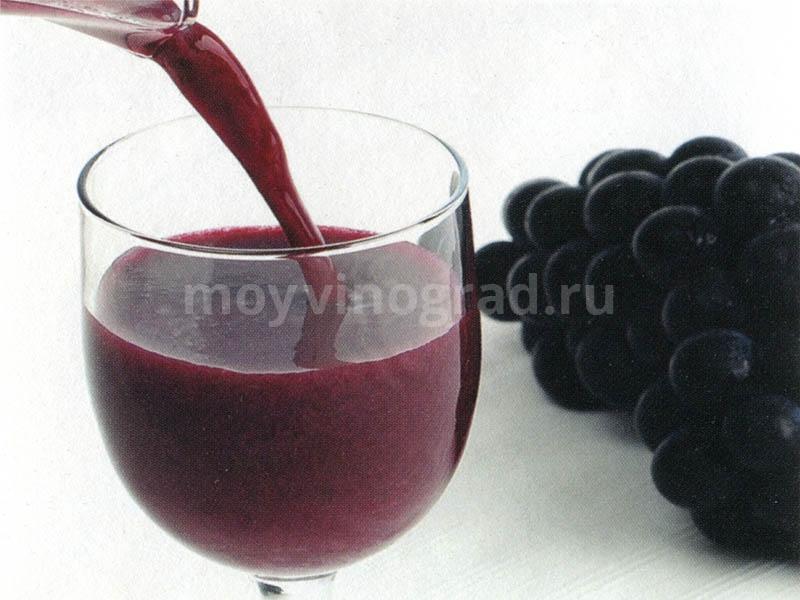 Полезный сок из винограда